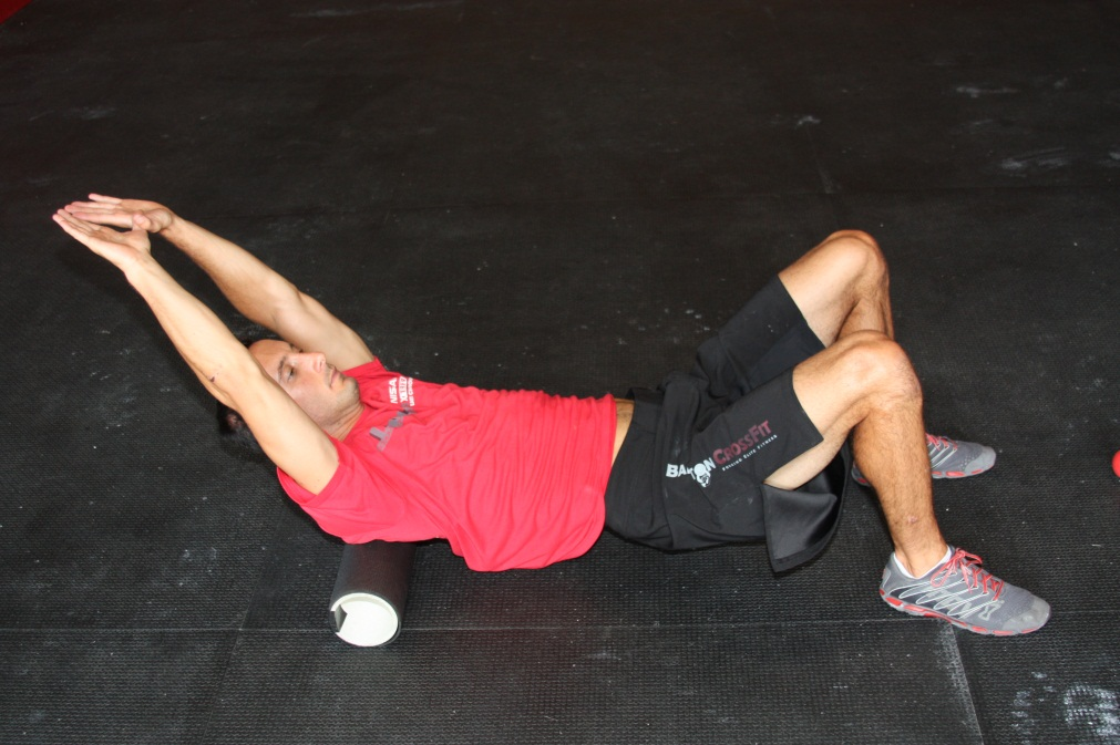 Foam Roll T-Spine Mobilization